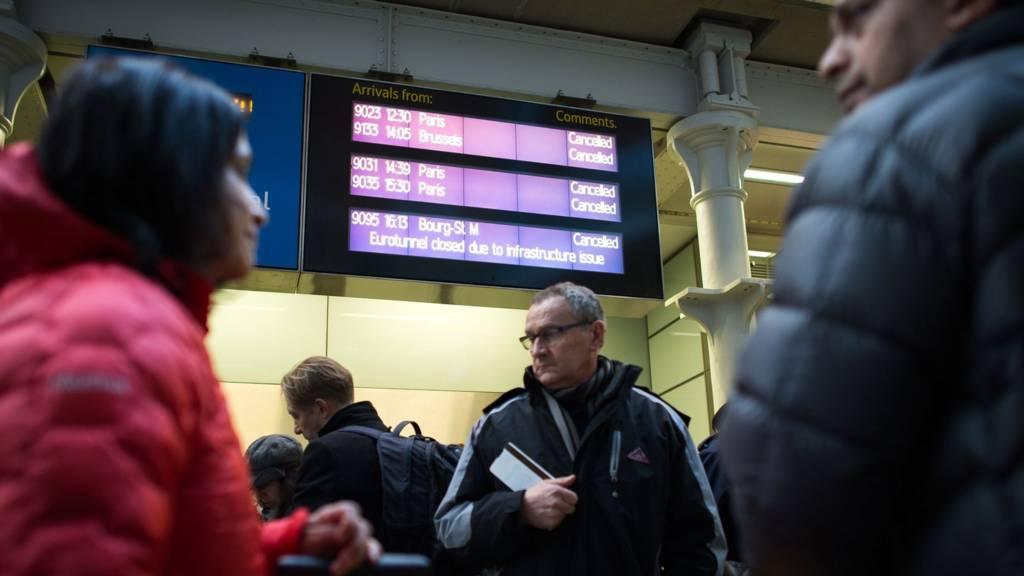 Passengers at St Pancras International