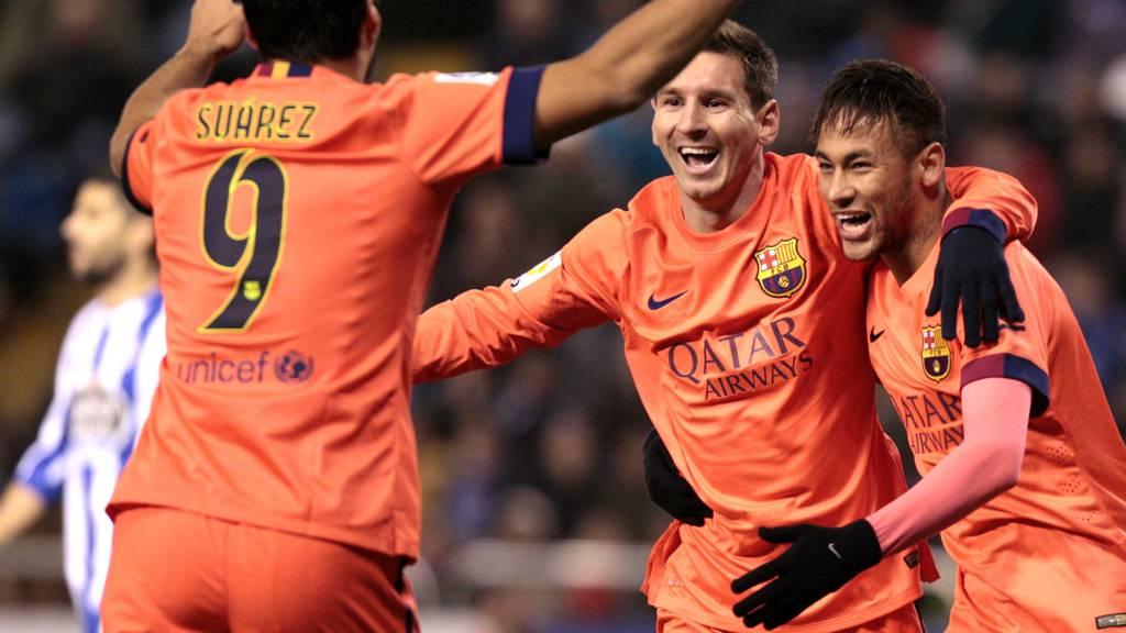 Suarez, Neymar and Messi