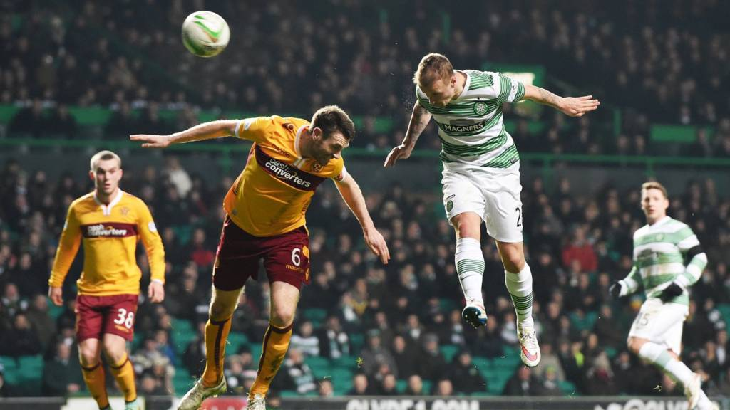 Leigh Griffiths scores for Celtic against Motherwell