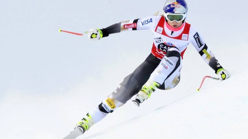 Lindsey Vonn of USA competes in the FIS Ski World Cup
