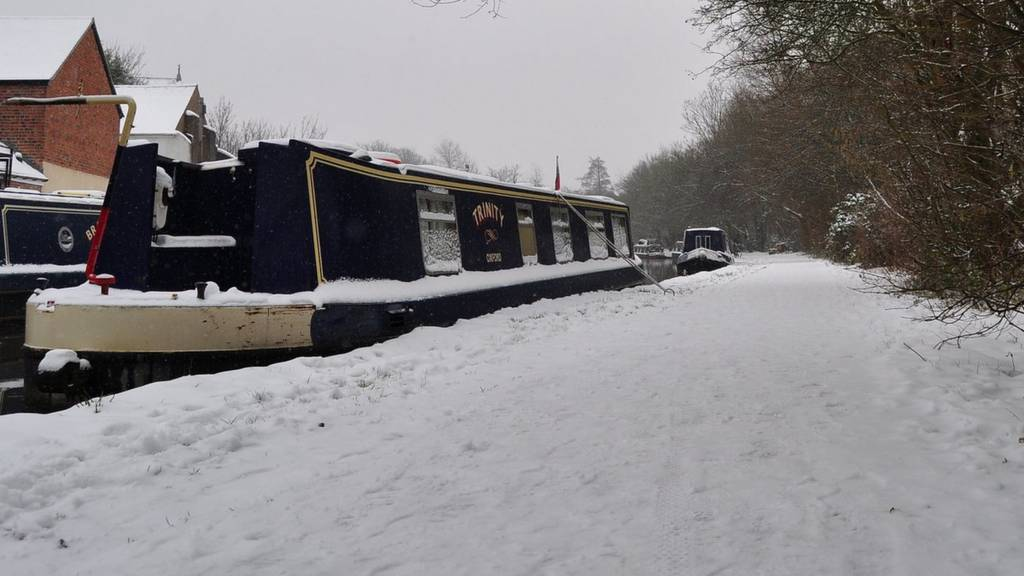 Snowy canal