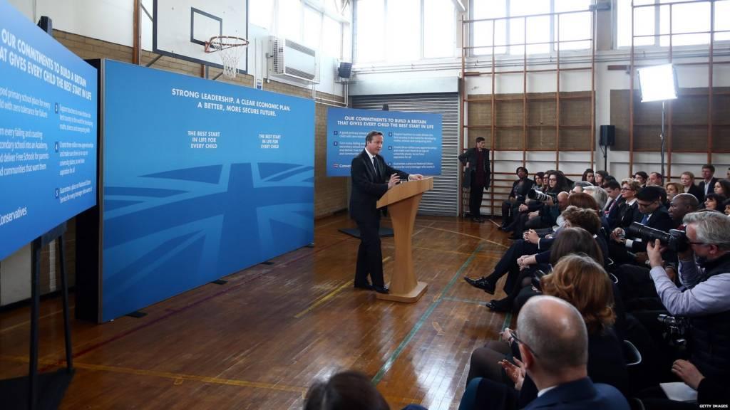 David Cameron making a speech