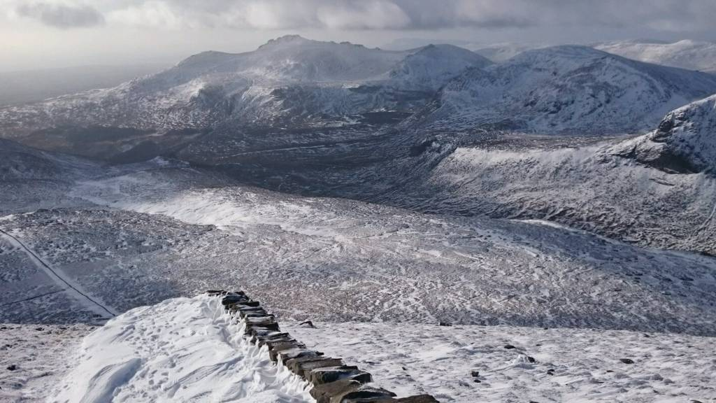 Mournes with snow