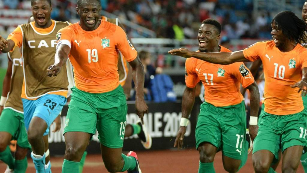 Ivory Coast team celebrates