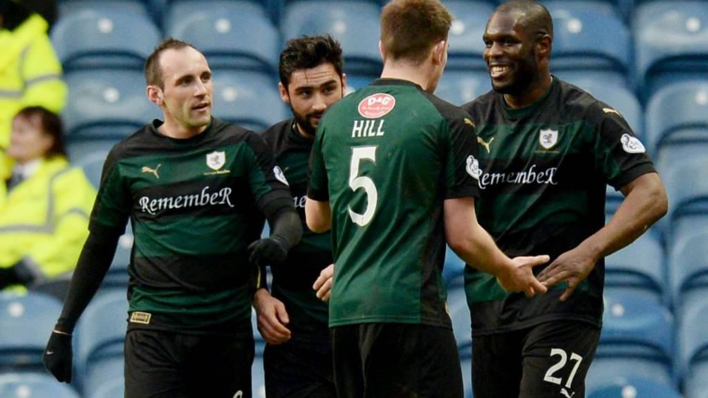 Christian Nade (right) shot Rovers into a 2-1 lead
