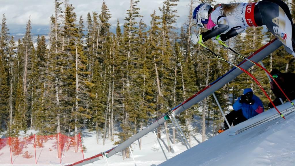 Lindsey Vonn in training for the Alpine World Ski Championships