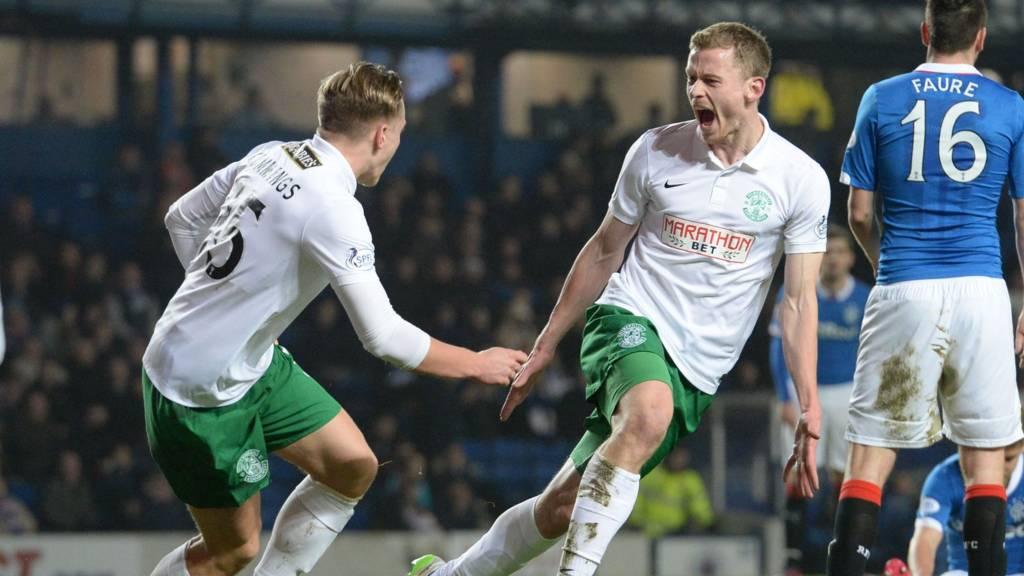 Scott Robertson celebrates his goal