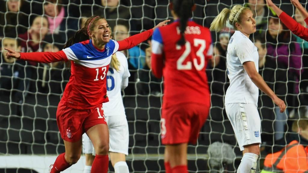 Alex Morgan scores for USA