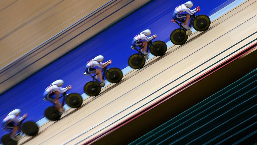 Team GB in training for the World Track Cycling Championships