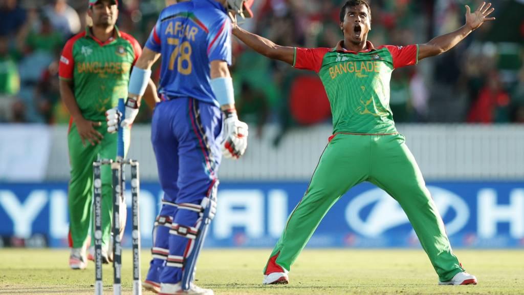 Rubel Hossain celebrates a wicket