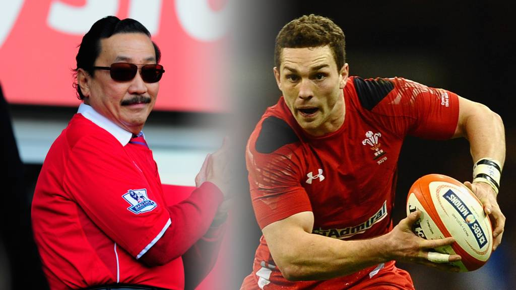 Vincent Tan (L) and George North (R)