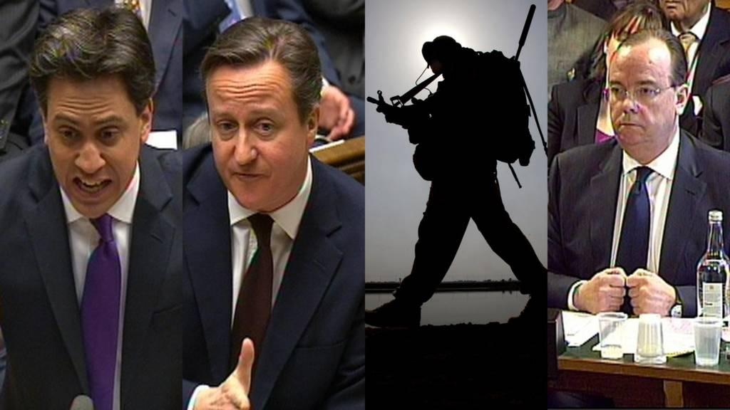 Ed Miliband and David Cameron in the House of Commons, British troops and HSBC chief executive Stuart Gulliver