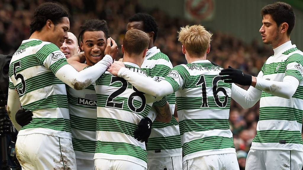 Celtic celebrate their goal
