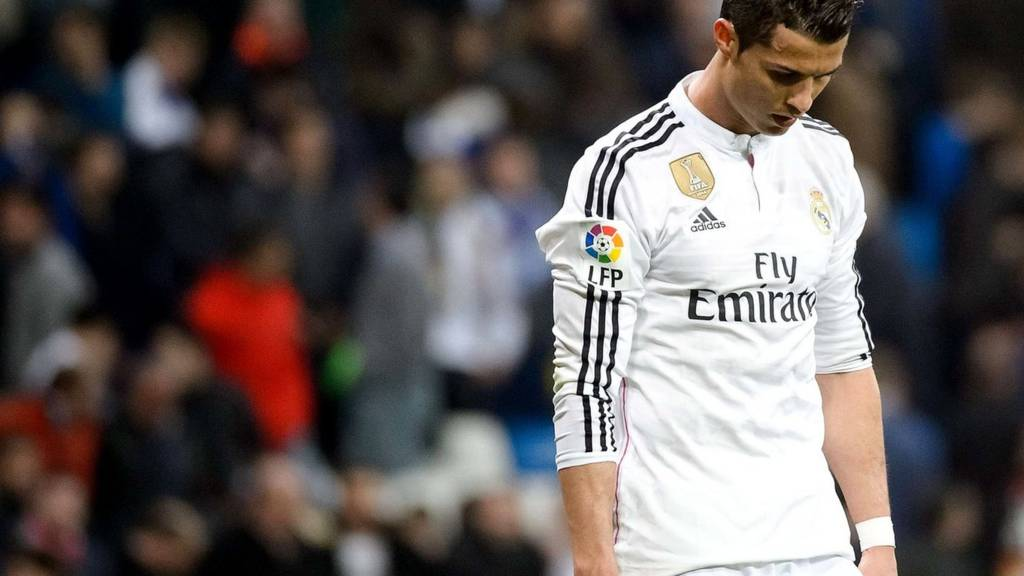 Cristiano Ronaldo looks dejected