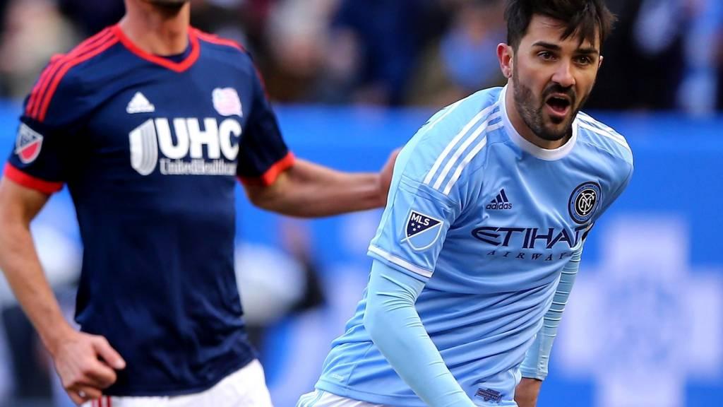 David Villa playing for New York City