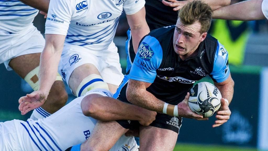 Glasgow Warriors' Stuart Hogg playing against Leinster