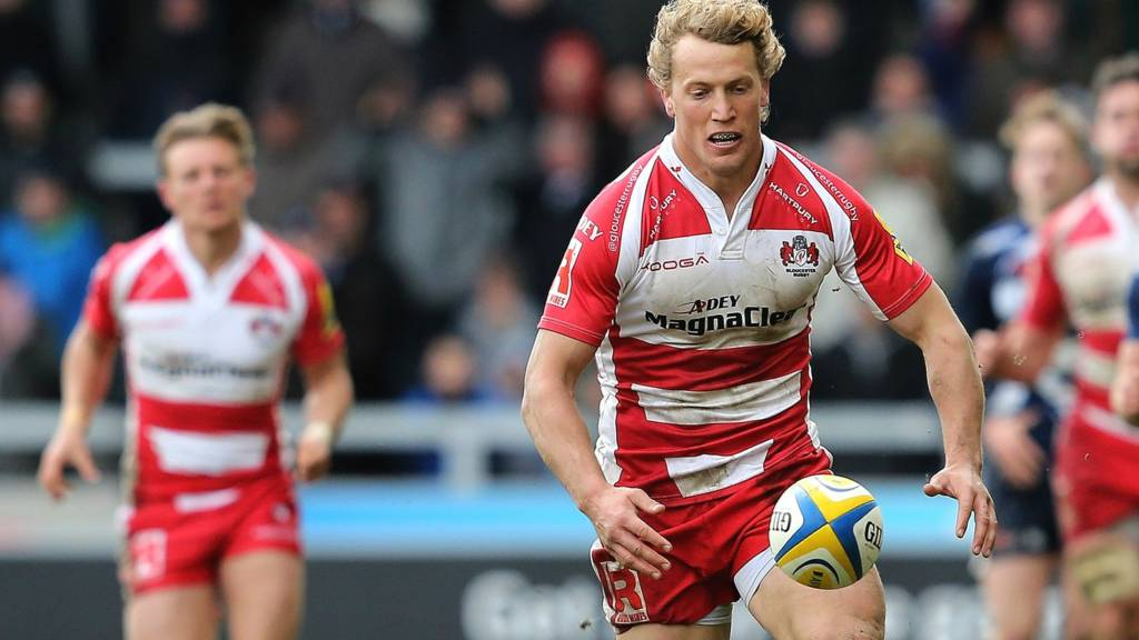 Billy Twelvetrees in action for Gloucester
