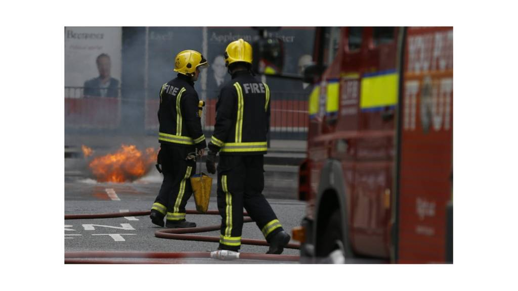 Firefighters in Holborn