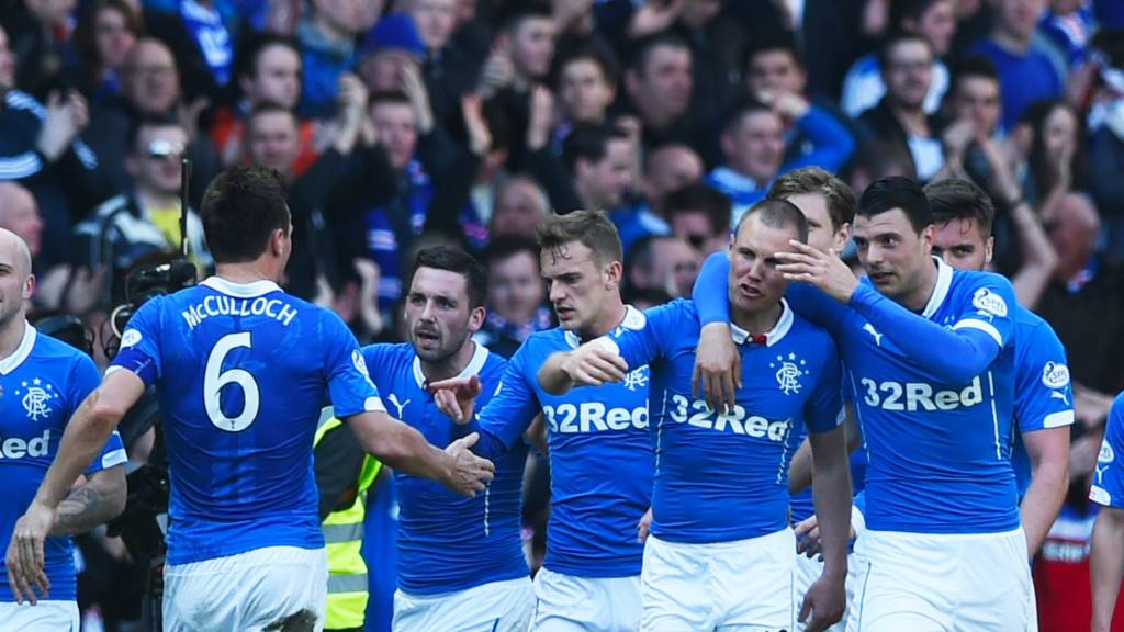 Kenny Miller and Haris Vuckic (right) scored for Rangers