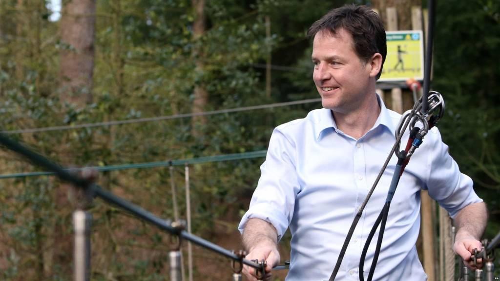 Nick Clegg at GoApe