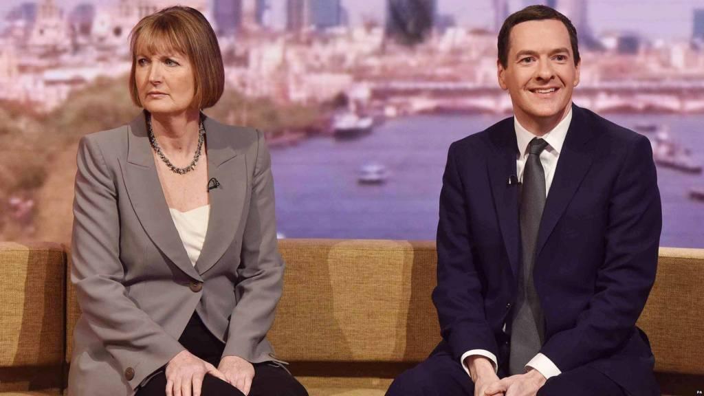 Harriet Harman and George Osborne