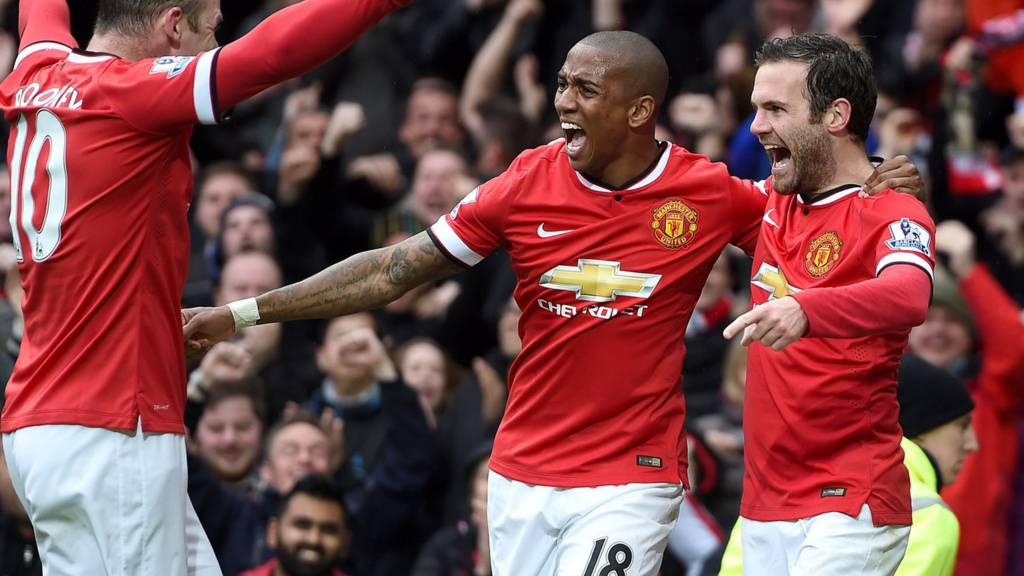 Mnahcester United celebrate