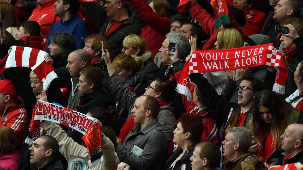Fans at Hillsborough service