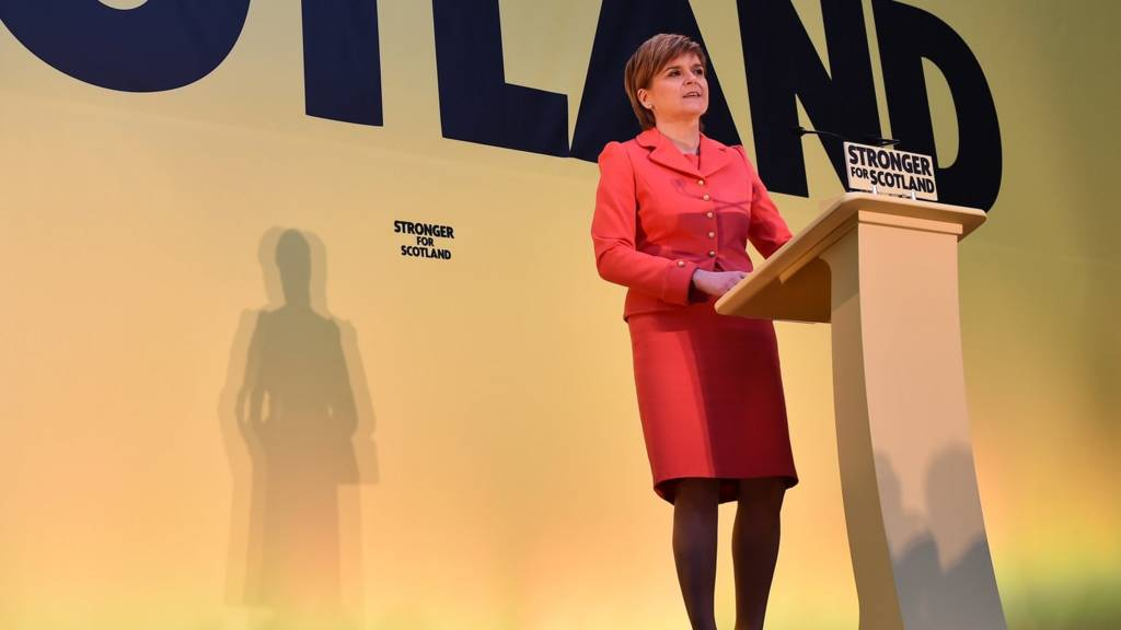 SNP leader Nicola Sturgeon launches the party's election manifesto