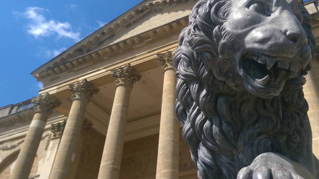 Stowe lion at Stowe House, Buckinghamshire