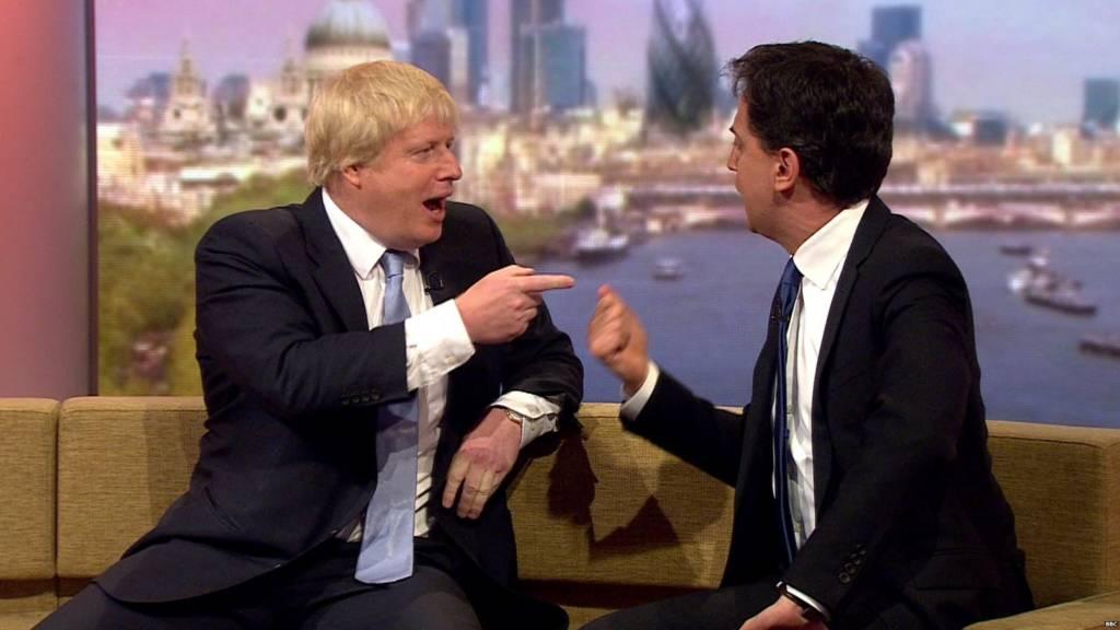 Boris Johnson Ed Miliband
