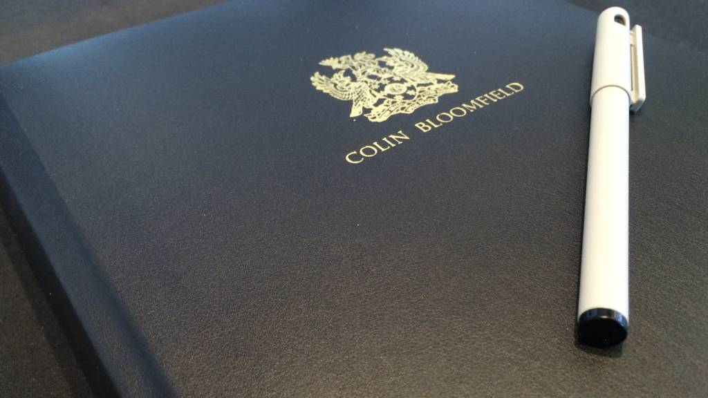 Colin Bloomfield book of condolence