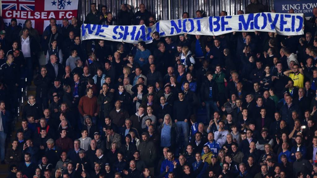 Chelsea fans at the King Power Stadium
