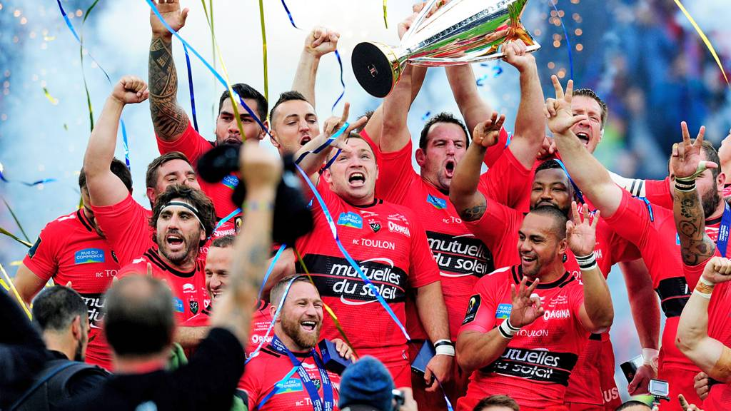 Toulon team celebrate