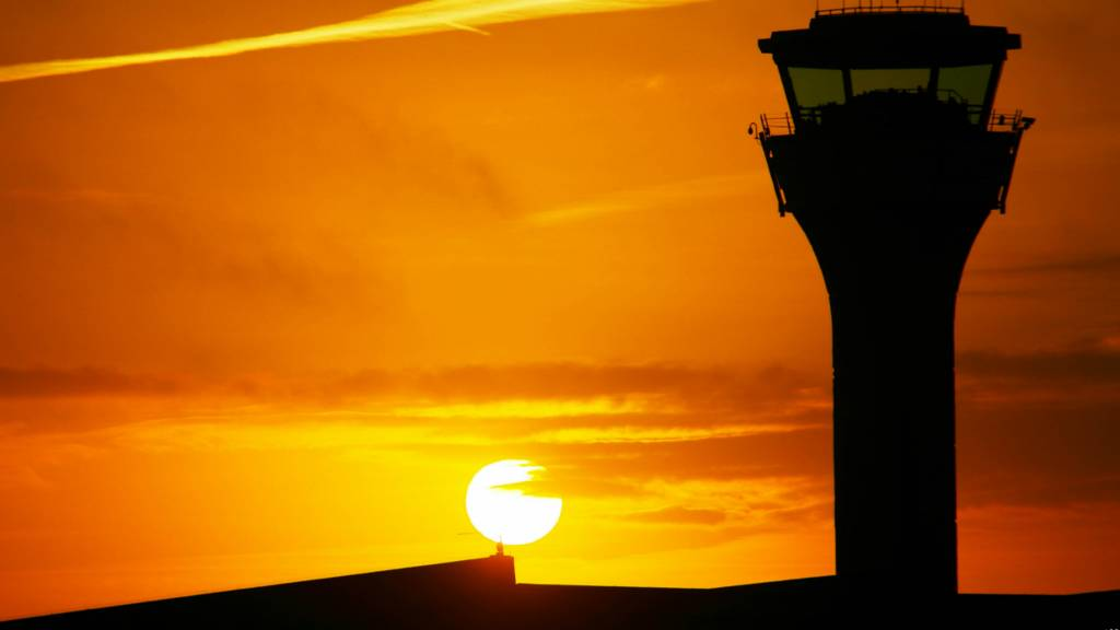 Sunrise at Luton Airport