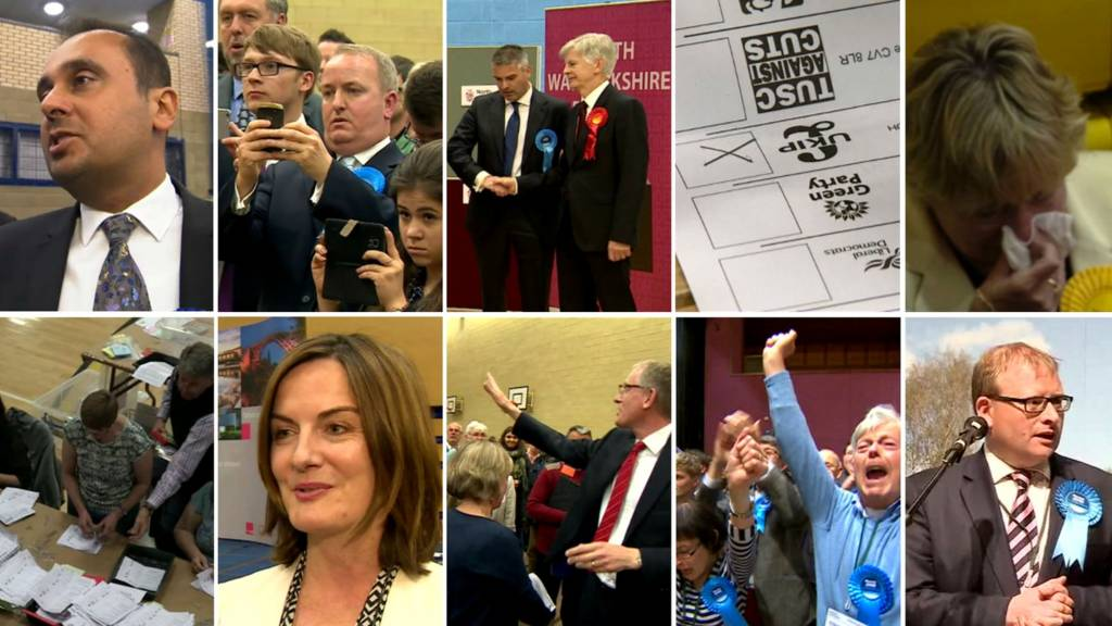 Montage of West Midlands election photos