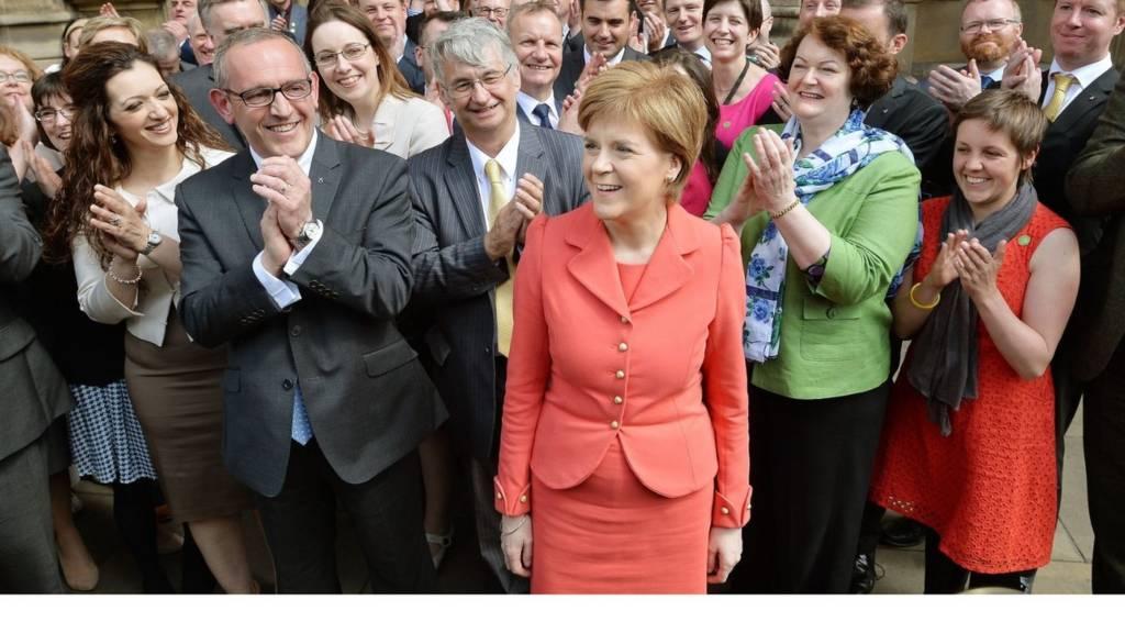 Nicola Sturgeon with SNP MPs