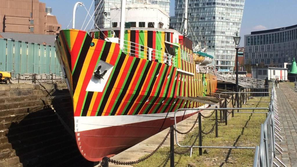 Dazzle Ship in Liverpool