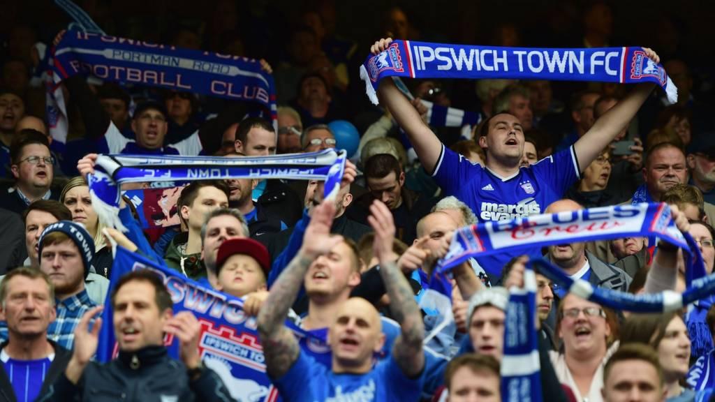 Ipswich Town fans at Portman Road
