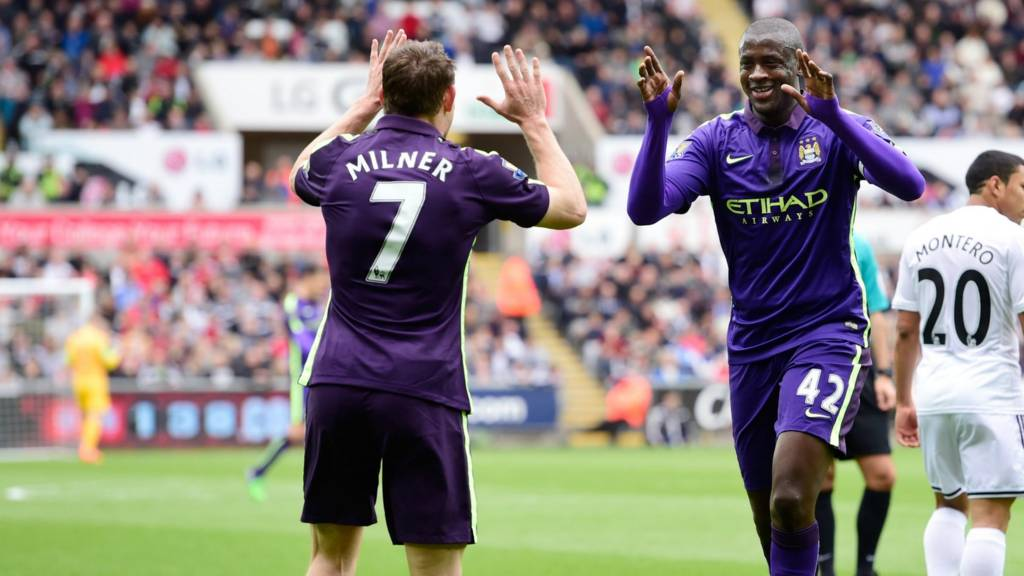 James Milner and Yaya Toure