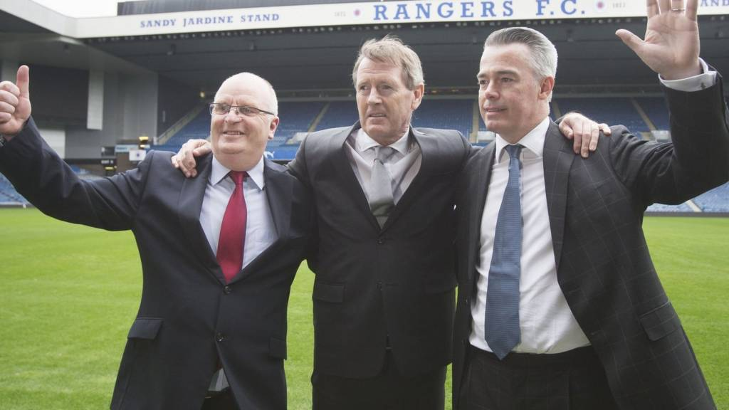From left: John Gilligan, Dave King and Paul Murray