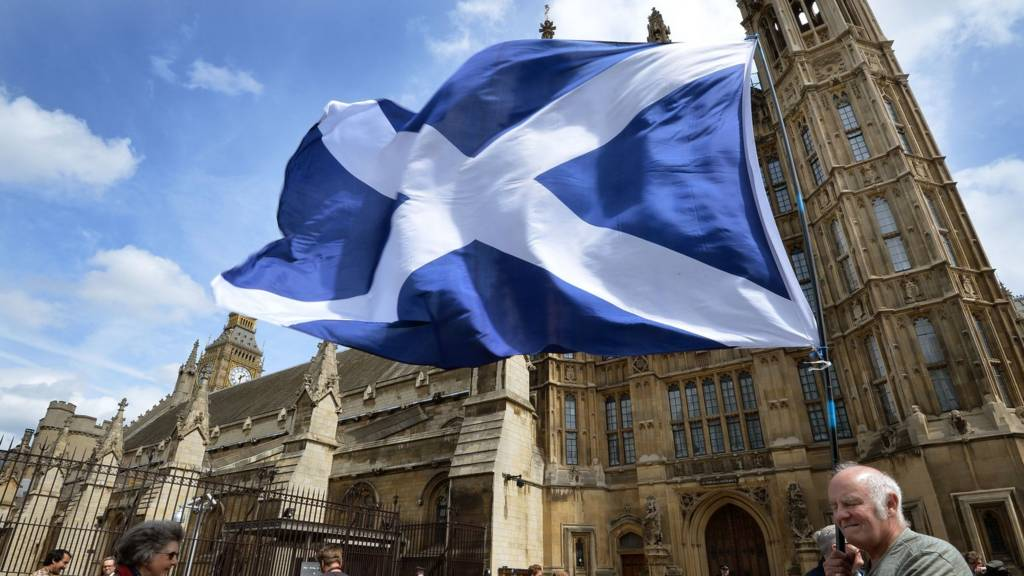 Saltire at Westminster