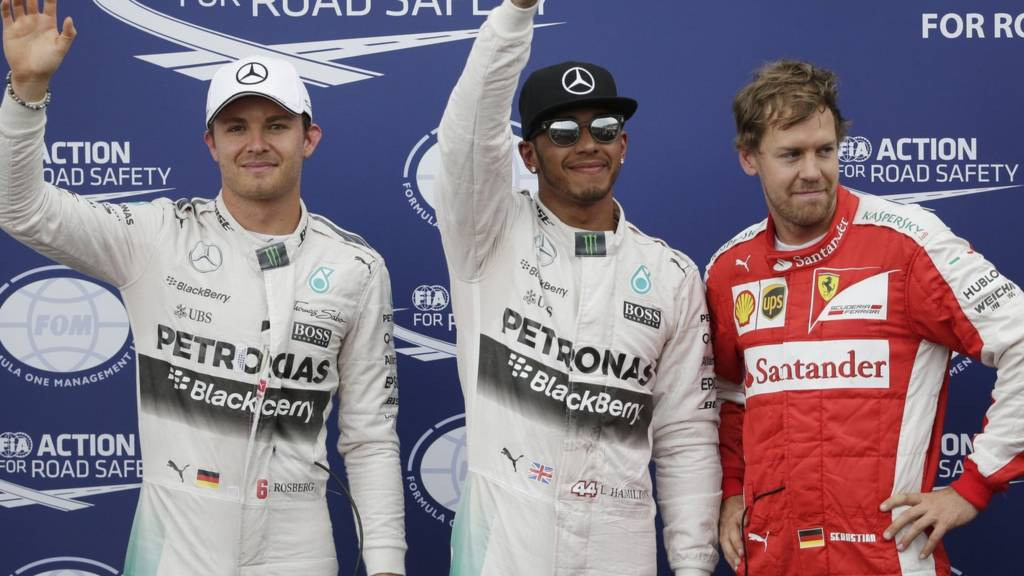 Hamilton, Rosberg and Vettel