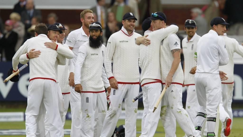 England team celebrate