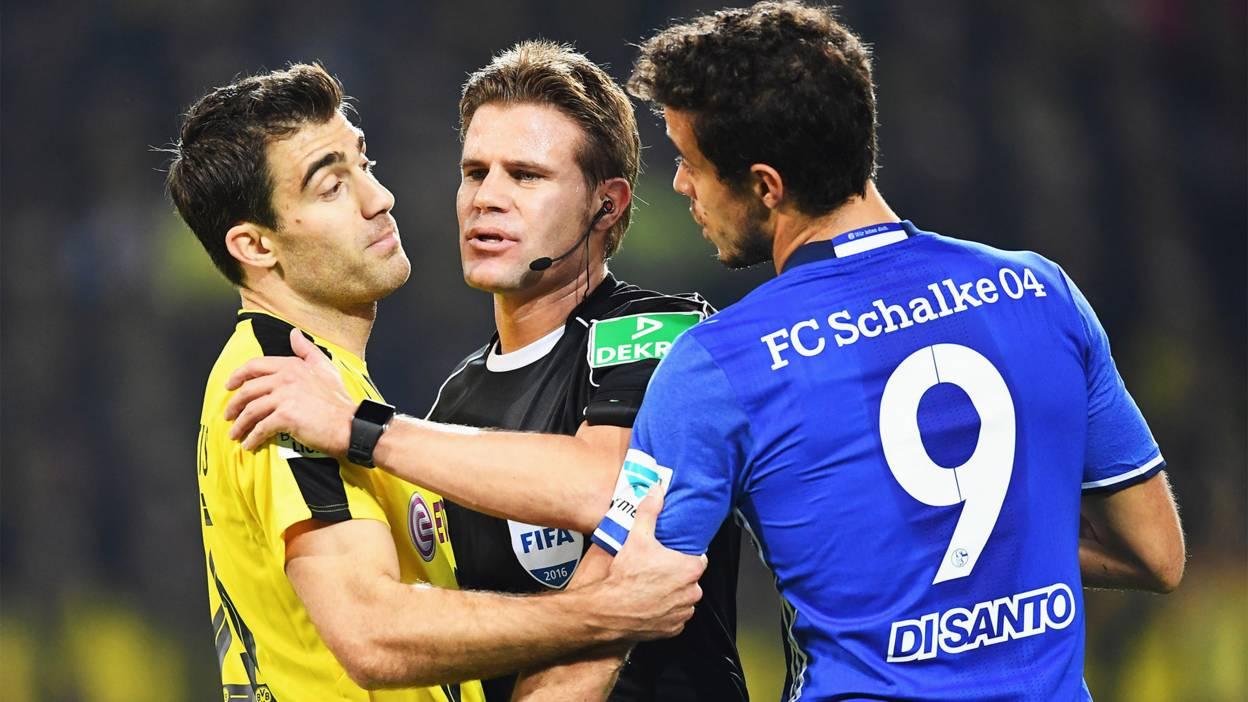 Dortmund & Schalke players square up