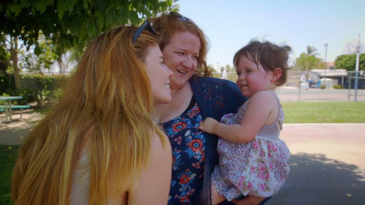 Stacey meets Ashley and her adopted baby girl Stella.