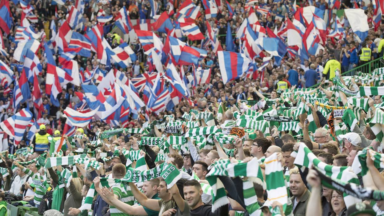 Rangers and Celtic supporters
