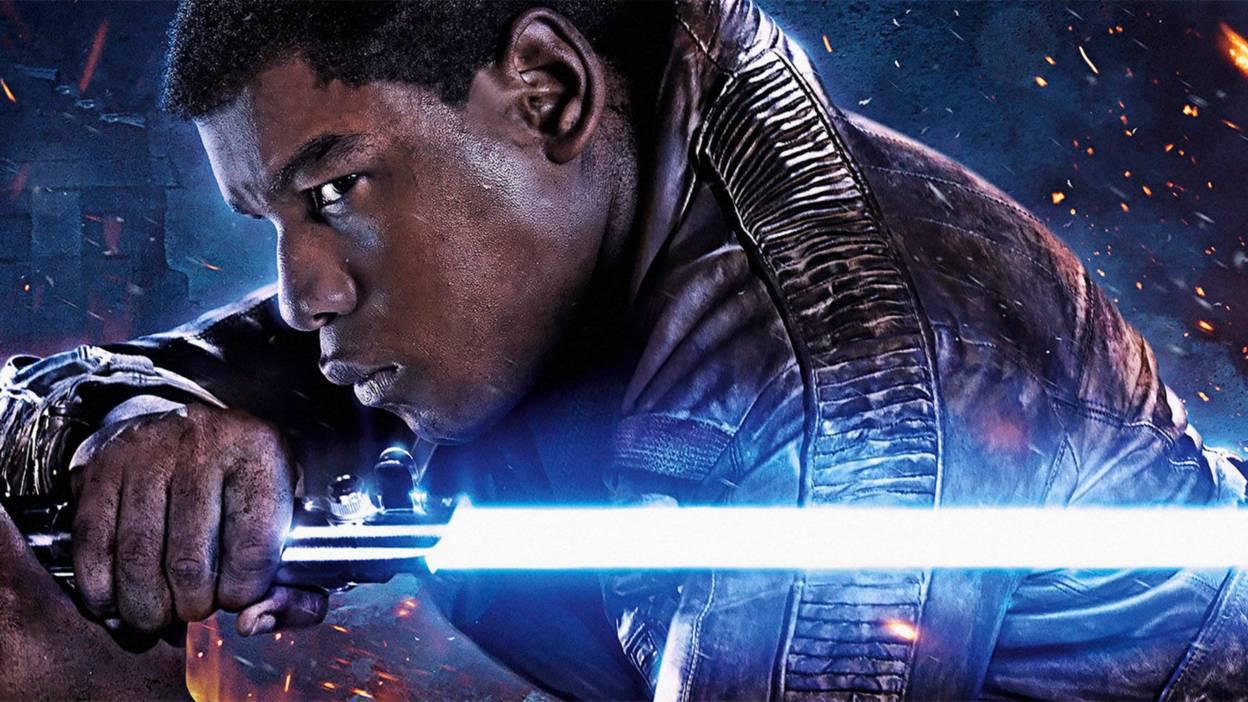John Boyega as Finn in Star Wars The Force Awakens