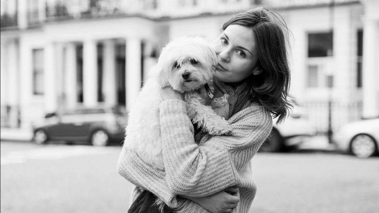Lily with dog