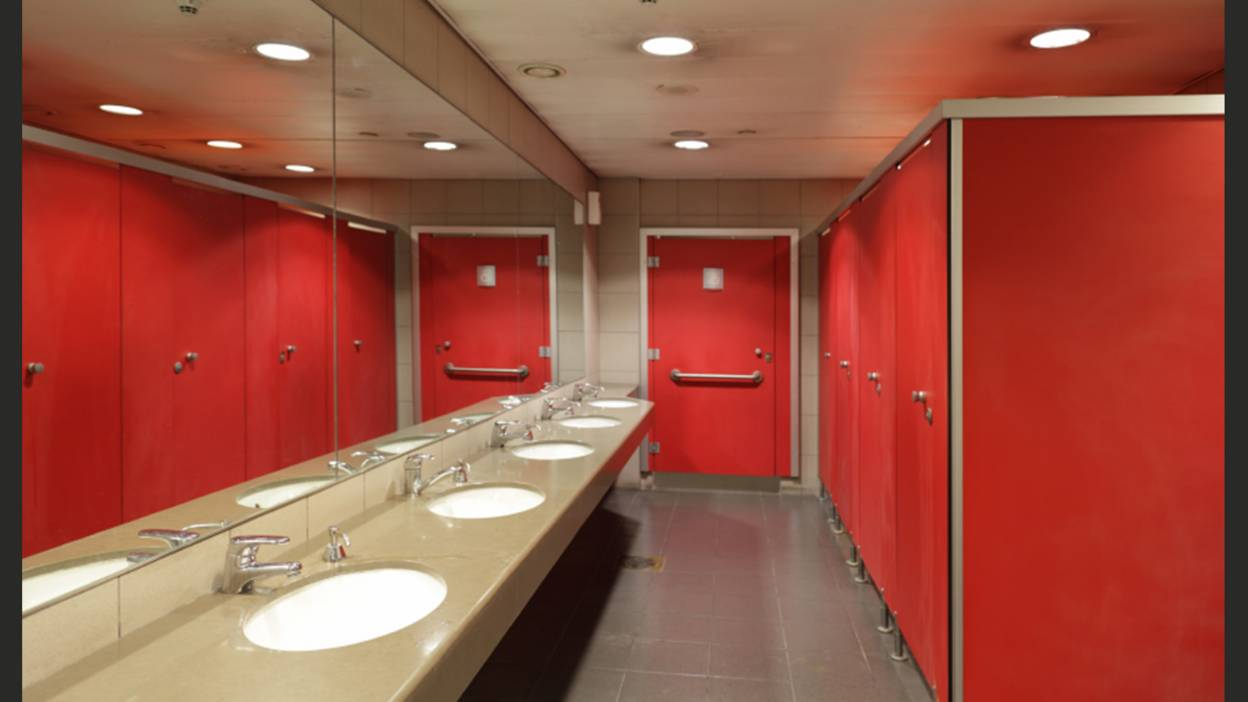 A public toilet