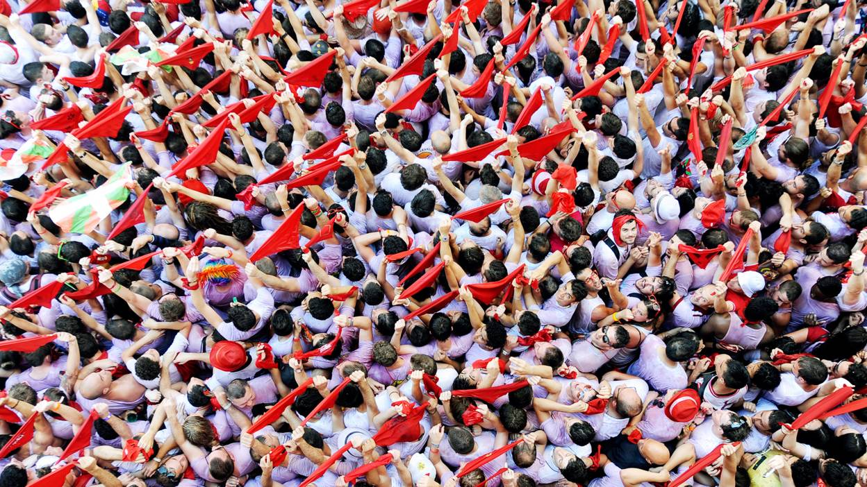 Crowds at San Fermin